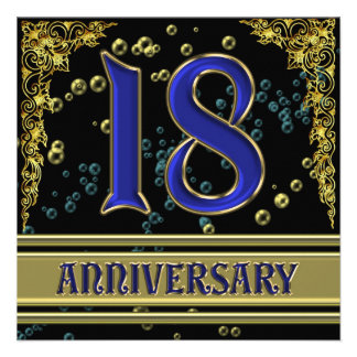 18th Anniversary Cards 18th Anniversary Card Templates Postage Invitations Photocards Amp More
