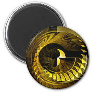 Black and Gold 2 Inch Round Magnet