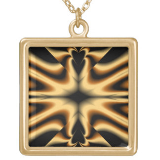 Black and Gold Abstract Necklace