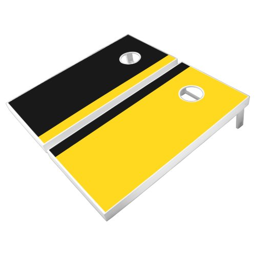 Black and Gold Add Your Logo Cornhole Set