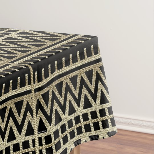 Black And Gold African Mud Cloth Print