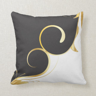 Black and Gold American MoJo Pillow