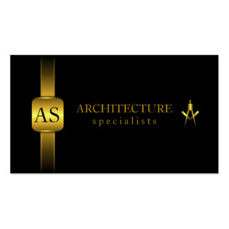 Black and Gold Architect Compass Business Cards Business Cards