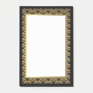 Black and Gold Art Deco Border Post-it Notes