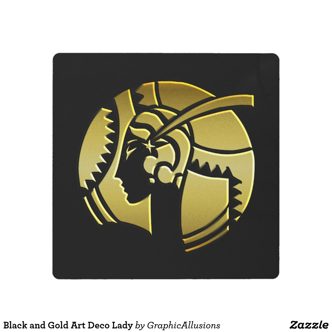 Black and Gold Art Deco Lady