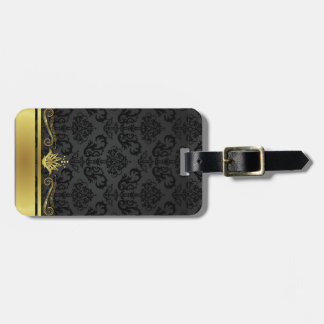 Black and Gold Bag Tag