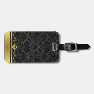 Black and Gold Bag Tag