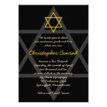 Black and Gold Bar Mitzvah Invitation