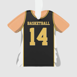 Black and Gold Basketball Ornament