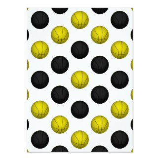 Black and Gold Basketball Pattern Card