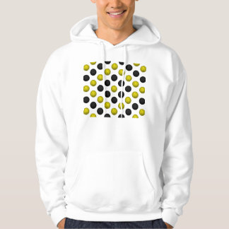 Black and Gold Basketball Pattern Hoodie