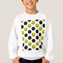 Black and Gold Basketball Pattern Sweatshirt