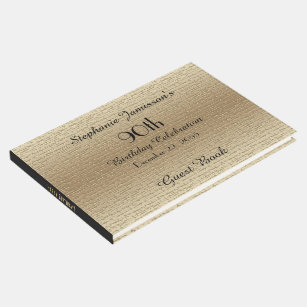 Black And Gold Birthday Party Memory Guest Book