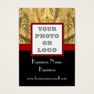 Black and gold bling  photo logo business card