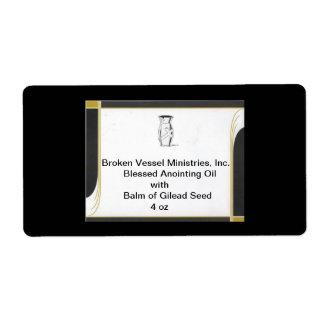 BLACK AND GOLD BORDER FOR BV CARD, BROKEN VESSE... LABEL