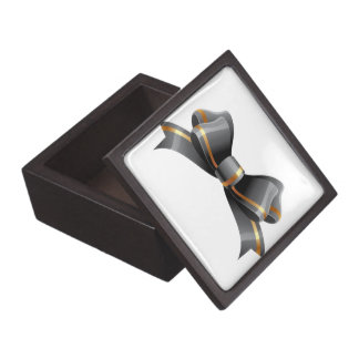 Black and Gold Bow Jewelry Box