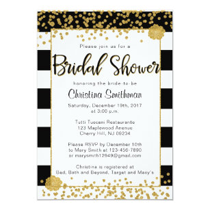 Black and gold bridal shower invitations announcements zazzle black and gold bridal shower invitations filmwisefo