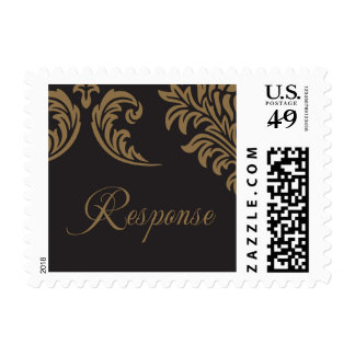 Black and Gold Brocade rsvp stamps