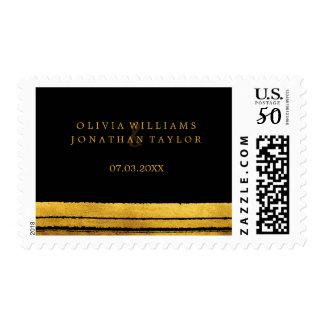 Black and Gold Brush Stroke Stamp