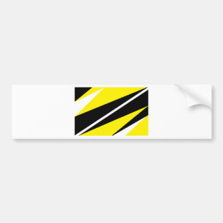 black and gold bumper sticker