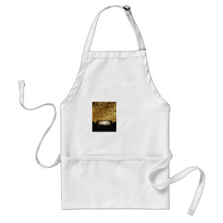 Black and Gold Bunco Accessories Adult Apron