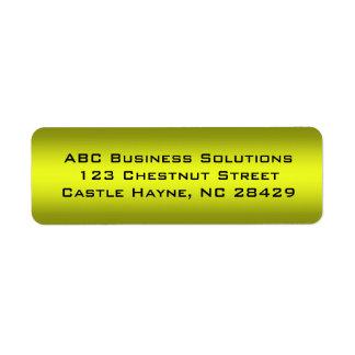 Black and Gold Business Return Address Sticker