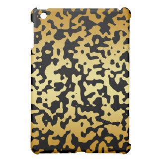 Black and Gold Camouflage  iPad Mini Case