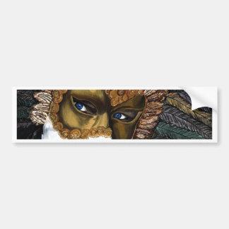 Black and Gold Carnival Mask  by PSOVART Bumper Sticker
