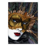 Black and Gold Carnival Mask  by PSOVART Card
