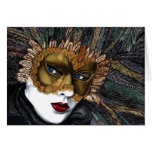 Black and Gold Carnival Mask  by PSOVART Cards