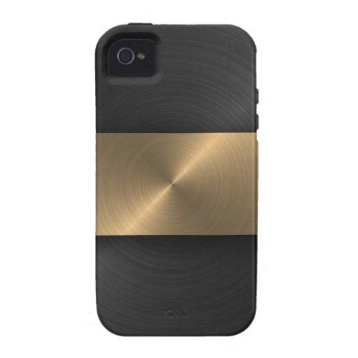 Black And Gold Vibe iPhone 4 Cases