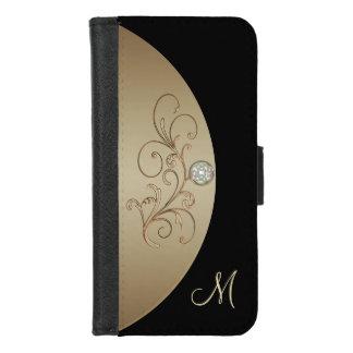 Black and Gold Celtic Monogram Wallet Case