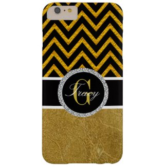 Black and Gold Chevron Monogrammed