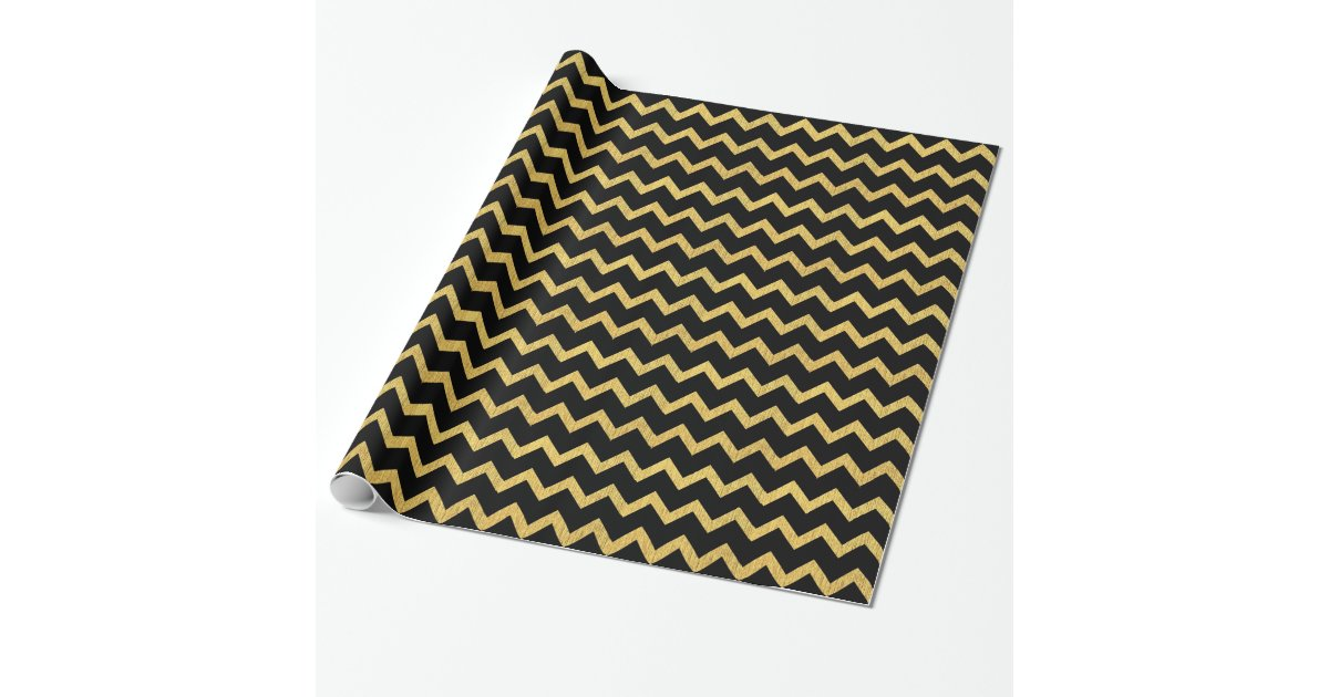 black and gold chevron wrapping paper. Black Bedroom Furniture Sets. Home Design Ideas