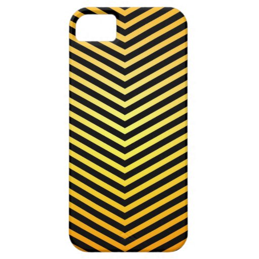 Black and Gold Chevron zig zig pattern Iphone case iPhone 5 Case