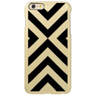 Black and Gold Chevrons Incipio iPhone 6 Plus Case Incipio Feather® Shine iPhone 6 Plus Case