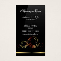 black and gold Chic Business Cards