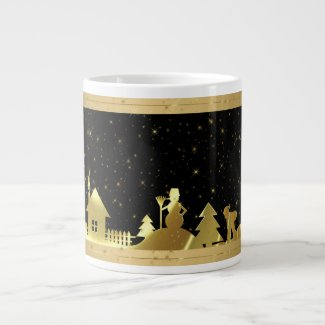 Black And Gold Christmas Village