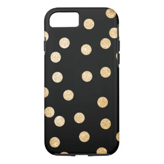 Black and Gold City Dots iPhone 8/7 Case