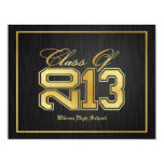 Black and Gold Class of 2013 Personalized Announcements