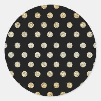 Black and Gold Classic Round Sticker