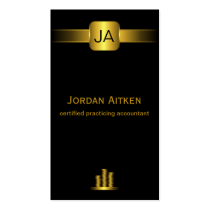 Black and Gold Coins CPA Accountant Business Cards Business Card Templates