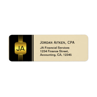 Black and Gold Coins Elegant CPA Accountant Label