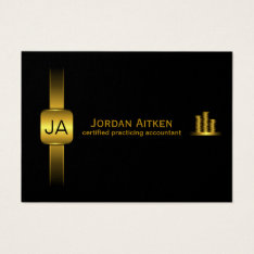 Black And Gold Coins Horiz. Large Cpa Accountant Business Card at Zazzle