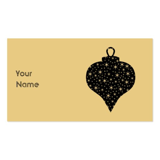 Black and Gold Color Christmas Bauble Design. Double-Sided Standard Business Cards (Pack Of 100)
