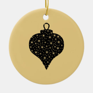 Black and Gold Color Christmas Bauble Design. Christmas Ornaments