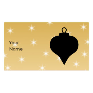 Black and Gold Color Christmas Design. Business Cards