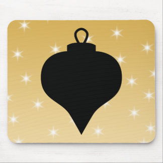 Black and Gold Color Christmas Design. Mousepad