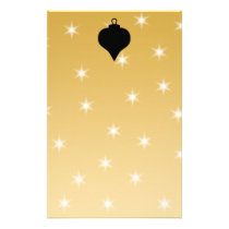 Black and Gold Color Christmas Design. Stationery
