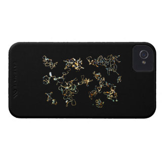 Black and Gold Color, Printed Pattern Design. iPhone 4 Cover